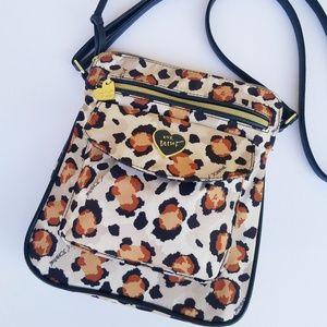 Betsey Johnson Leopard Print Crossbody Bag